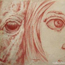 Arte: ESCUELA ESPAÑOLA DIBUJO/CARTULINA 39 X 33 CM. FIRMADO ILEGIBLE.. Lote 114702939