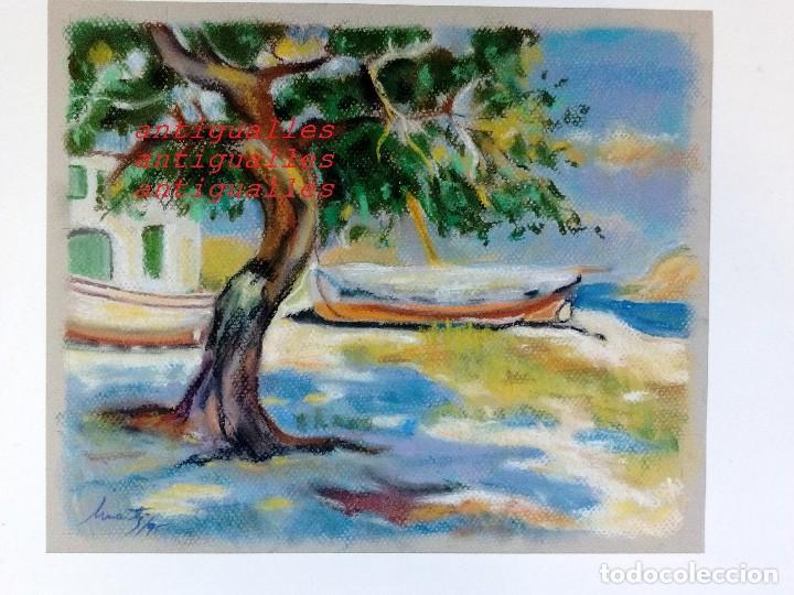 DIBUJO A PASTEL,CON FIRMA DE AUTOR MARTI/95.MEDIDA:30X25.PINTURA,CUADRO,BELLAS ARTES. (Arte - Dibujos - Contemporáneos siglo XX)