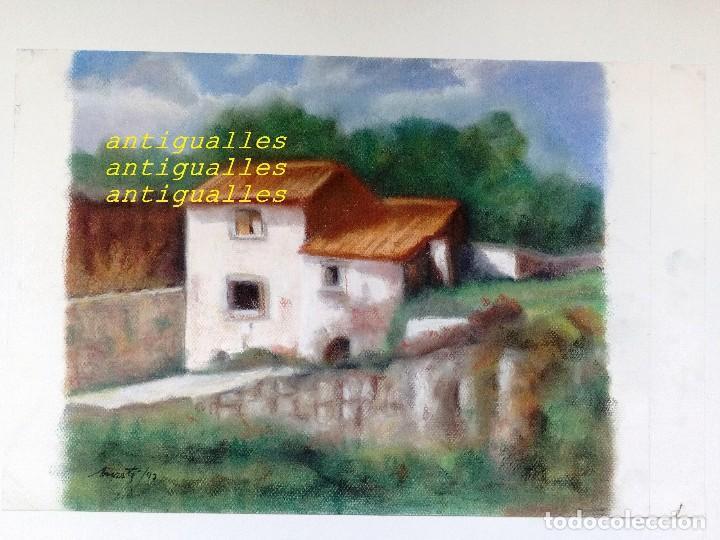 DIBUJO A PASTEL,CON FIRMA DE AUTOR MARTI/97.MEDIDA:50X33.PINTURA,CUADRO,BELLAS ARTES (Arte - Dibujos - Contemporáneos siglo XX)
