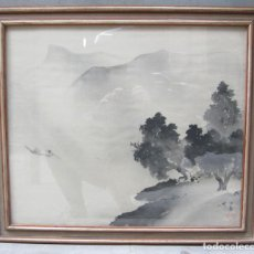 Arte: DIBUJO JAPONÉS, AUTOR Y FECHA POR IDENTIFICAR. 58X50CM. Lote 114889731