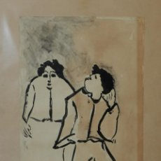 Arte: (M) DIBUJO ORIGINAL DE JOSE PEREZ OCAÑA - CON DEDICATORIA AUTOGRAFA , 50X 32 CM. Lote 114921115