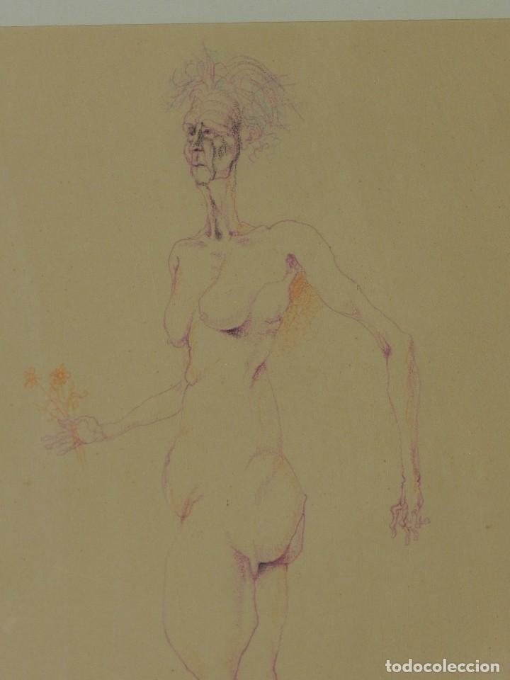 Arte: (M) DIBUJO ORIGINAL DE EDUARDO ARRANZ BRAVO 1967 - DIBUJO ENMARCADO , 43 X 36 CM - Foto 3 - 114921547