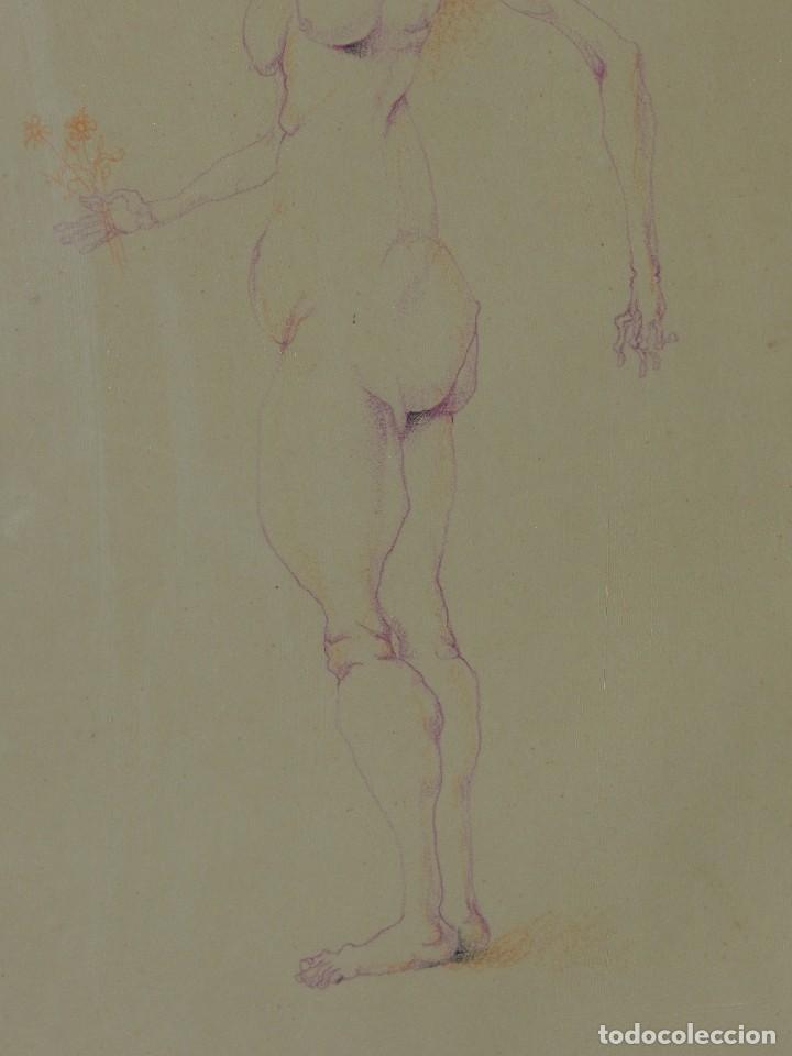 Arte: (M) DIBUJO ORIGINAL DE EDUARDO ARRANZ BRAVO 1967 - DIBUJO ENMARCADO , 43 X 36 CM - Foto 4 - 114921547