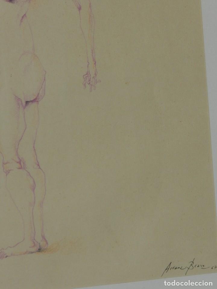 Arte: (M) DIBUJO ORIGINAL DE EDUARDO ARRANZ BRAVO 1967 - DIBUJO ENMARCADO , 43 X 36 CM - Foto 5 - 114921547