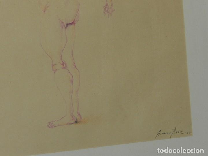 Arte: (M) DIBUJO ORIGINAL DE EDUARDO ARRANZ BRAVO 1967 - DIBUJO ENMARCADO , 43 X 36 CM - Foto 6 - 114921547
