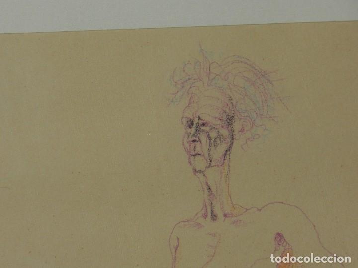 Arte: (M) DIBUJO ORIGINAL DE EDUARDO ARRANZ BRAVO 1967 - DIBUJO ENMARCADO , 43 X 36 CM - Foto 7 - 114921547