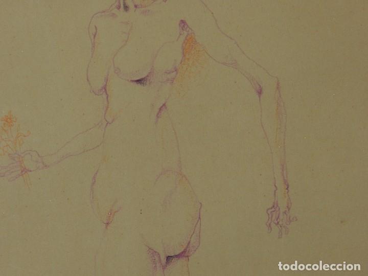 Arte: (M) DIBUJO ORIGINAL DE EDUARDO ARRANZ BRAVO 1967 - DIBUJO ENMARCADO , 43 X 36 CM - Foto 8 - 114921547