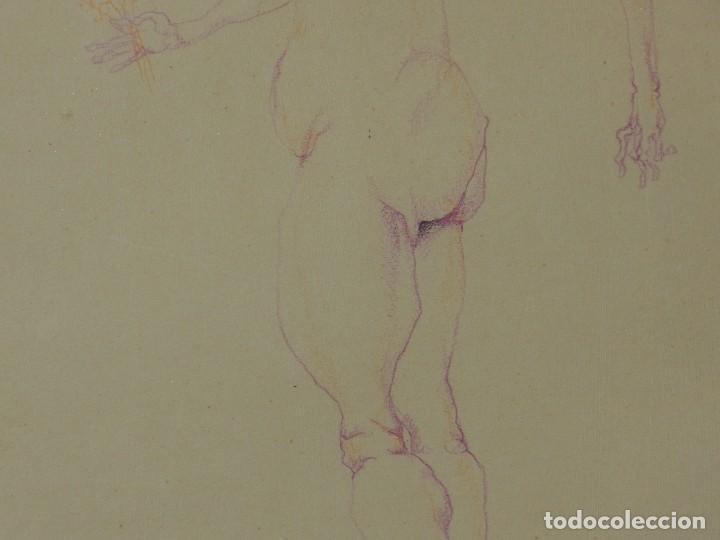Arte: (M) DIBUJO ORIGINAL DE EDUARDO ARRANZ BRAVO 1967 - DIBUJO ENMARCADO , 43 X 36 CM - Foto 9 - 114921547