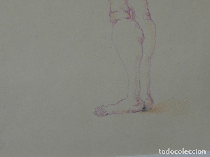 Arte: (M) DIBUJO ORIGINAL DE EDUARDO ARRANZ BRAVO 1967 - DIBUJO ENMARCADO , 43 X 36 CM - Foto 10 - 114921547