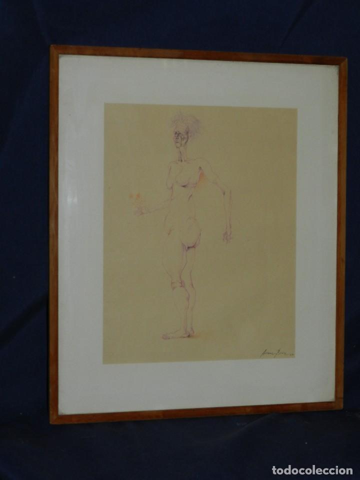 Arte: (M) DIBUJO ORIGINAL DE EDUARDO ARRANZ BRAVO 1967 - DIBUJO ENMARCADO , 43 X 36 CM - Foto 11 - 114921547