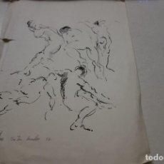 Arte: DIBUJO DEL PINTOR VICENS VILAPLANA. AÑO 1977.. Lote 115042535