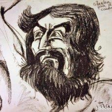 Arte: ESTUDIO PARA EL GIGANTE CAIDO. CERA SOBRE PAPEL. FIRMADO TRAPERO. ESPAÑA. 1969. Lote 115094651