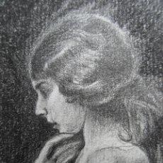 Arte: GESTODEDIOS (SALAMANCA, 1971). DIBUJO A LÁPIZ DE MUJER, BELLE EPOQUE, ZIEGFELD FOLLIES,VINTAGE. Lote 115427595
