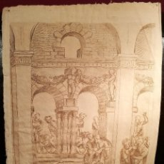 Arte: IMPORTANTE DIBUJO MANIERISTA MUY PROXIMO A ALONSO BERRUGUETE (1490-1561). Lote 115500559