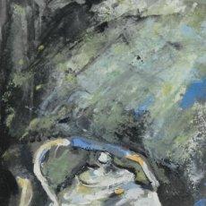 Arte: GOUACHE SOBRE PAPEL TETERA SEGUNDA MITAD SIGLO XX. Lote 195458000