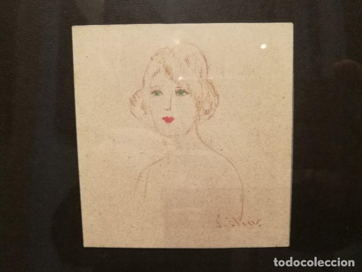 Arte: RETRATO DE MUJER POR PERE ELIAS SINDREU (1893-1988) - Foto 2 - 115839987