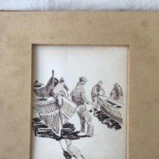 Arte: DIBUJO A TINTA DE CHARLES PARDELL, TITULO APUNT AL PORT. VER FOTOS ANEXAS.. Lote 116057791
