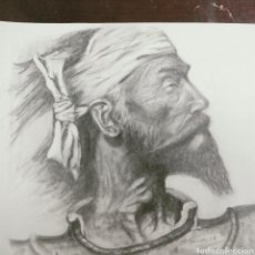 Arte: DON QUIJOTE DE LA MANCHA A LAPIZ ORIGINAL ESCUELA ARTE. Lote 116232270