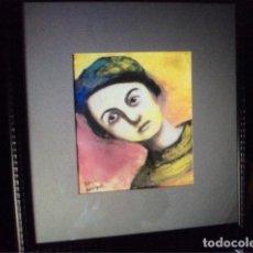 Arte: SILVINA BERENGUER , RETRATO, DIBUJO A LA CERA. Lote 116232715