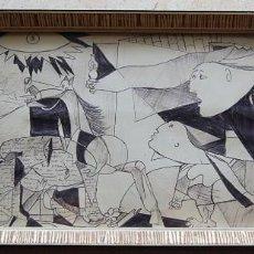 Arte: EL GUERNICA: COPIA DE LOS AÑOS 80'S ( DIBUJO ORIGINAL A MANO, NO IMPRESION). Lote 116433863