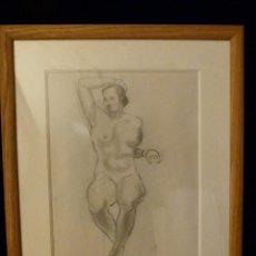 Arte: DIBUJO DE MANOLO HUGUE 1972-1945. Lote 116588931