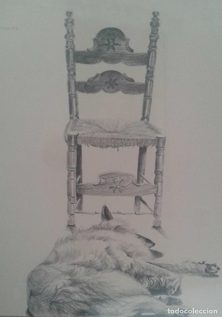 RICARD CALVO DURAN. PINTOR NACIDO EN 1940 EN SABADELL. (LAIKA) (Arte - Dibujos - Contemporáneos siglo XX)