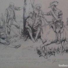 Arte: JAUME JUEZ NACIDO EN BARCELONA EN 1906,.DIBUJO DEL CAPITULO IX DEL QUIJOTE. Lote 116902679