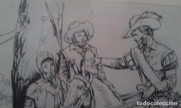 Arte: Jaume Juez nacido en Barcelona en 1906,.dibujo del capitulo IX del Quijote - Foto 5 - 116902679