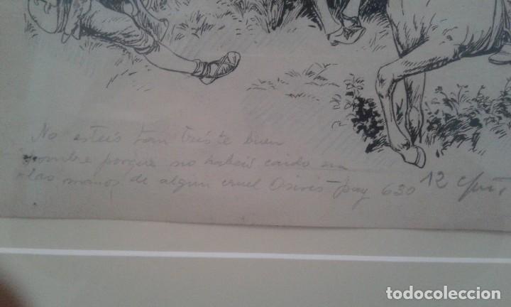 Arte: Jaume Juez nacido en Barcelona en 1906,.dibujo del capitulo IX del Quijote - Foto 7 - 116902679
