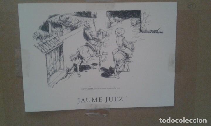 Arte: Jaume Juez nacido en Barcelona en 1906,.dibujo del capitulo IX del Quijote - Foto 9 - 116902679