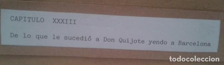 Arte: Jaume Juez nacido en Barcelona en 1906,.dibujo del capitulo IX del Quijote - Foto 10 - 116902679