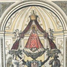 Arte: IMPORTANTE DIBUJO A TINTA Y ACUARELA DE LA VIRGEN VIÑET O VINYET VIRGEN DE SITGES.BARCELONA. Lote 117134043