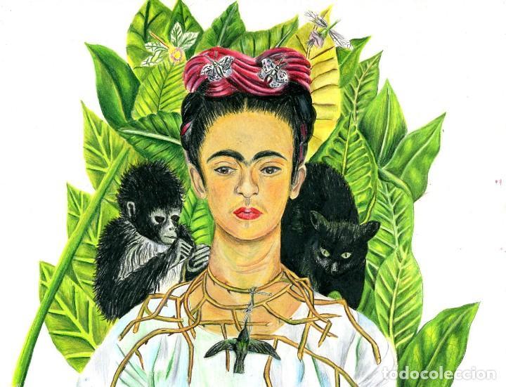 Frida Kahlo Para Dibujar: Dibujo Inspirado En Pintura De Frida Kahlo, Aut
