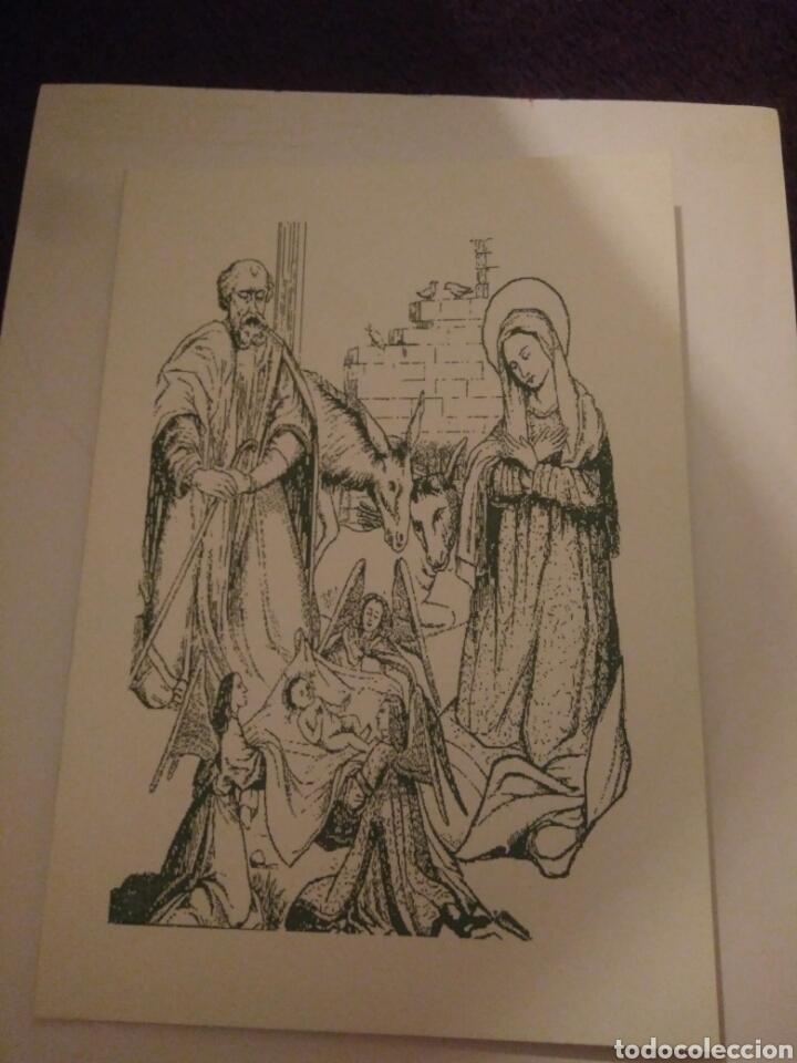 CRISMA DE NAVIDAD PUBLICIDAD FARMACIA BLANCA PALOMA.SEVILLA (Arte - Dibujos - Contemporáneos siglo XX)