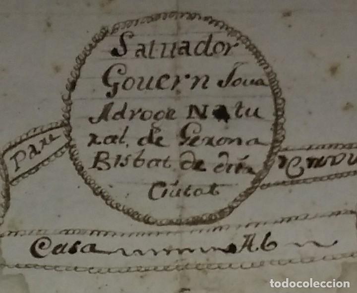 Arte: 1758 Árbol genealógico. Gerona. Girona. Familia Govern. Dibujo A Tinta. Siglo XVIII - Foto 3 - 117623611