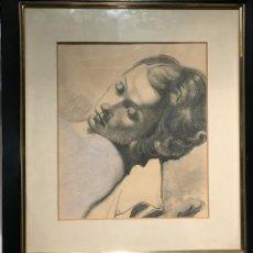 Arte: CABEZA DE MUJER POR DARÍO VILÁS FERNÁNDEZ 1943 (BARCELONA 1880- 1950).. Lote 117881547