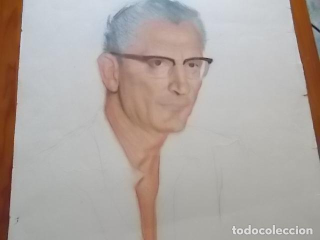 Arte: MUY INTERESANTE RETRATO DE CABALLERO // A CARBONCILLO Y CERAS / 65X50 - Foto 2 - 118195635