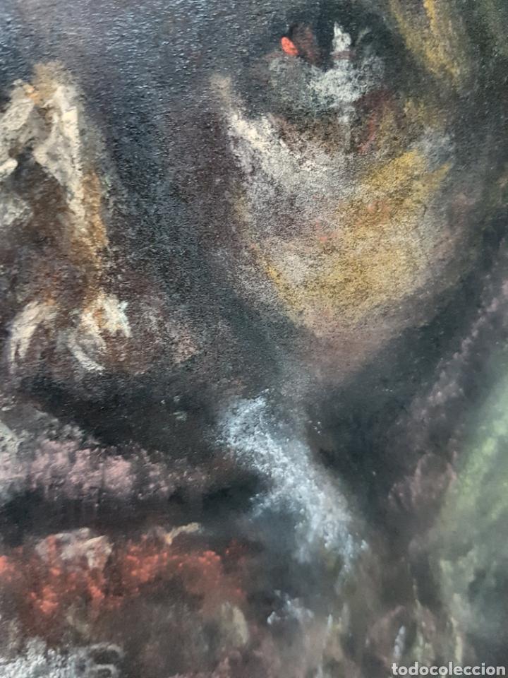 Arte: DIBUJO JESUCRISTO A PASTEL, SOBRE FONDO NEGRO, 33X50CM - Foto 3 - 118205422