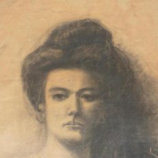 Arte: RETRATO DE MUJER. FIRMADO R. CASAS (RAMON CASAS ?). Lote 118236859