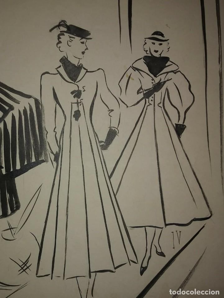 Arte: Original firmado Pere Clapera Argelaguer (1906-1984) Pasarela de moda 56x44 - Foto 3 - 118265067