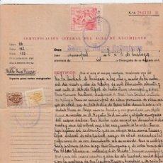 Arte: CERTIFICADO LITERAL DEL ACTA DE NACIMIENTO PABLO PICASSO EXP: 8 NOVIEMBRE DE 1948. Lote 118429523