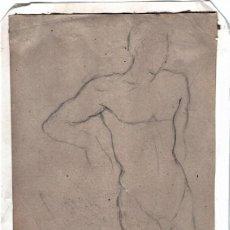 Arte: DIBUJO ORIGINAL A LAPIZ DEL PINTOR IMPRESIONISTA ELISEO MEIFREN ROIG,FIRMADO,ESTUDIO CUERPO HUMANO. Lote 118583363
