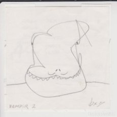 Arte: ÒSCAR ROCABERT - VAMPIR 2 - DIBUJO A LÁPIZ - AÑOS 2000. Lote 118746867