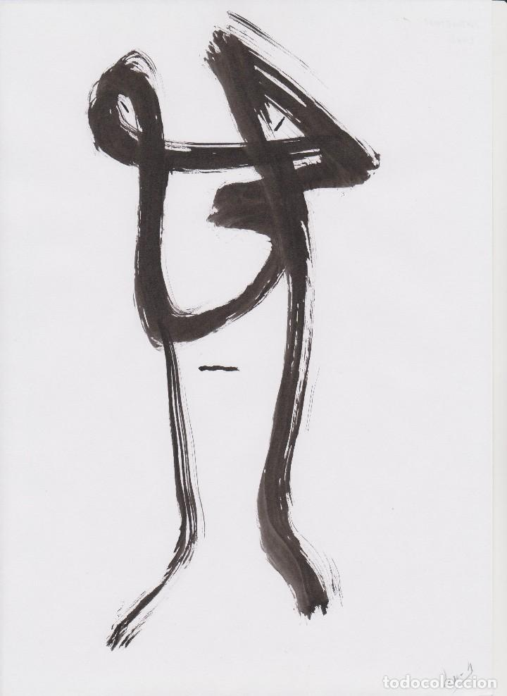 ÒSCAR ROCABERT - AUTORETRAT - DIBUJO A TINTA - 2002 (Arte - Dibujos - Contemporáneos siglo XX)