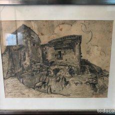 Arte: DIBUJO A LÁPIZ FIRMADO POR TORRELL. Lote 118942763
