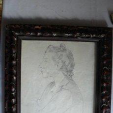 Arte: BONITO RETRATO DE MUJER A LAPIZ DE 1939 FIRMADO-ORIGINAL. Lote 118946639