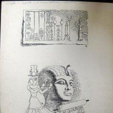 Arte: DIBUJO ORIGINAL SIGLO XX ESTADOS UNIDOS ILUSTRACION LIBRO EGIPTO 37 X 30 CENTÍMETROS. Lote 119009131