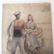 Arte: OBRA ORIGINAL MAESTRO DIBUJANTE SALVADOR MESTRES PALMETA(1910-1975).ILUSTRACIÓN NACIONAL 1940'S.. Lote 119050135