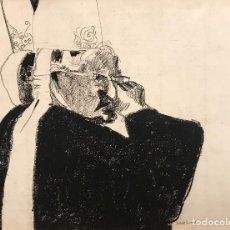 Arte: DIBUJO CARBONCILLO - JOAN GRANADOS LLIMONA - FIRMADO. Lote 119075235