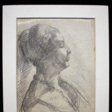 Arte: PERFIL FEMININO - JOSEP CLARÀ. Lote 119087635